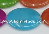 CCN726 15.5 inches 25*35mm oval candy jade beads wholesale