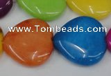 CCN729 15.5 inches 25*25mm heart candy jade beads wholesale