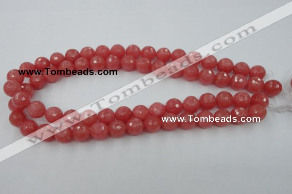 CCN787 15.5 inches 8mm faceted round candy jade beads wholesale