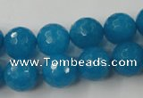 CCN798 15.5 inches 8mm faceted round candy jade beads wholesale