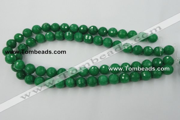 CCN831 15.5 inches 12mm faceted round candy jade beads wholesale