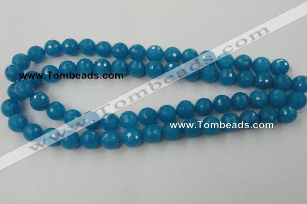 CCN832 15.5 inches 12mm faceted round candy jade beads wholesale