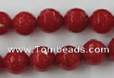 CCN841 15.5 inches 14mm faceted round candy jade beads wholesale