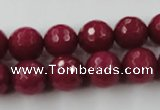 CCN842 15.5 inches 14mm faceted round candy jade beads wholesale