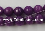 CCN847 15.5 inches 14mm faceted round candy jade beads wholesale