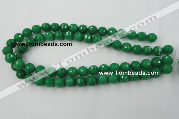 CCN848 15.5 inches 14mm faceted round candy jade beads wholesale