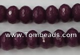 CCN911 15.5 inches 9*12mm faceted rondelle candy jade beads