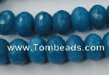 CCN925 15.5 inches 10*14mm faceted rondelle candy jade beads