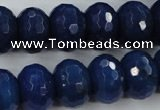 CCN940 15.5 inches 12*16mm faceted rondelle candy jade beads