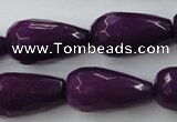 CCN991 15.5 inches 13*25mm faceted teardrop candy jade beads