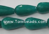 CCN995 15.5 inches 13*25mm faceted teardrop candy jade beads