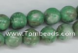 CCO104 15.5 inches 12mm round dyed natural chrysotine beads