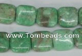 CCO115 15.5 inches 14*14mm square dyed natural chrysotine beads