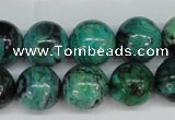 CCO145 15.5 inches 14mm round dyed natural chrysotine beads