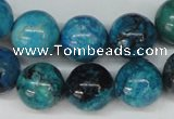 CCO168 15.5 inches 18mm round dyed natural chrysotine beads