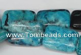 CCO192 15.5 inches 18*25mm rectangle dyed natural chrysotine beads