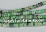 CCO24 15.5 inches 2*4mm tyre natural chrysotine beads