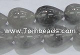 CCQ107 15.5 inches 15*20mm teardrop cloudy quartz beads wholesale