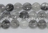 CCQ116 15.5 inches 10mm coin cloudy quartz beads wholesale