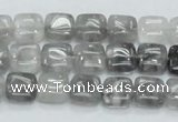 CCQ193 15.5 inches 10*10mm square cloudy quartz beads wholesale