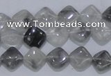 CCQ203 15.5 inches 10*10mm diamond cloudy quartz beads wholesale