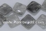 CCQ204 15.5 inches 15*15mm diamond cloudy quartz beads wholesale