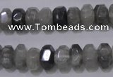 CCQ237 15.5 inches 8*12mm faceted rondelle cloudy quartz beads