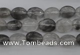 CCQ243 15.5 inches 8*10mm oval cloudy quartz beads wholesale