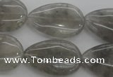 CCQ256 15.5 inches 20*30mm flat teardrop cloudy quartz beads