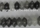 CCQ328 15.5 inches 7*13mm rondelle cloudy quartz beads wholesale