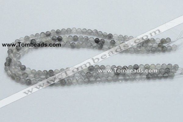 CCQ50 15.5 inches 6mm round cloudy quartz beads wholesale