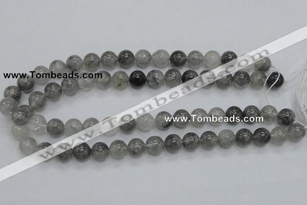 CCQ53 15.5 inches 12mm round cloudy quartz beads wholesale