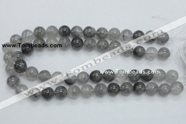CCQ54 15.5 inches 14mm round cloudy quartz beads wholesale