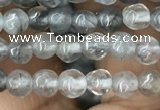 CCQ580 15.5 inches 4mm faceted round cloudy quartz beads wholesale