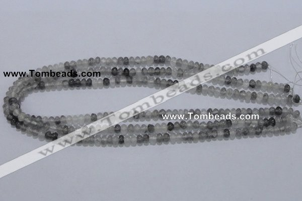 CCQ66 15.5 inches 4*6mm rondelle cloudy quartz beads wholesale