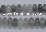 CCQ68 15.5 inches 6*10mm rondelle cloudy quartz beads wholesale