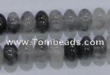 CCQ69 15.5 inches 7*12mm rondelle cloudy quartz beads wholesale