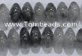 CCQ70 15.5 inches 8*14mm rondelle cloudy quartz beads wholesale