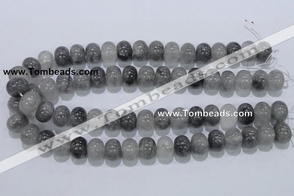 CCQ71 15.5 inches 12*16mm rondelle cloudy quartz beads wholesale