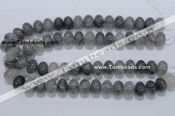 CCQ72 15.5 inches 13*18mm rondelle cloudy quartz beads wholesale