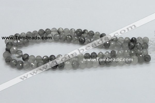 CCQ77 15.5 inches 8*10mm faceted rondelle cloudy quartz beads wholesale