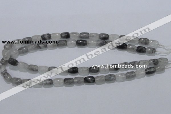 CCQ80 15.5 inches 8*12mm column cloudy quartz beads wholesale