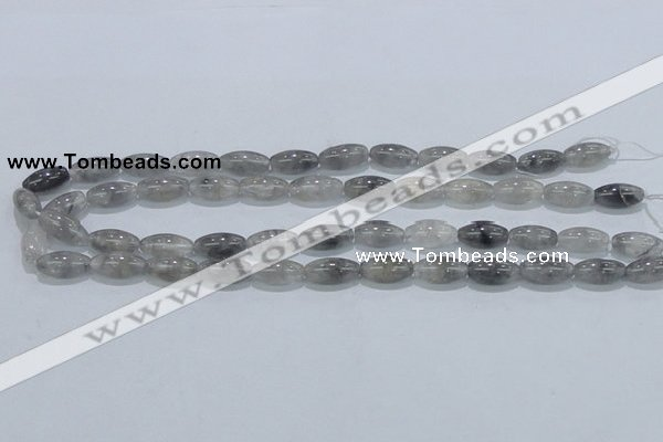 CCQ81 15.5 inches 8*16mm rice cloudy quartz beads wholesale