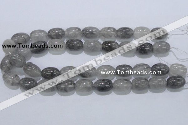 CCQ83 15.5 inches 15*20mm rice cloudy quartz beads wholesale