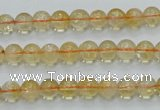CCR02 15.5 inches 7mm round natural citrine gemstone beads wholesale