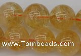CCR169 15.5 inches 14mm round natural citrine beads wholesale