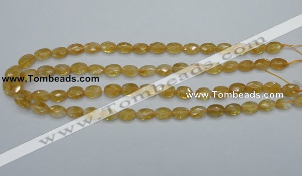 CCR22 15.5 inches 8*12mm faceted oval natural citrine gemstone beads
