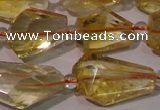CCR222 15.5 inches 10*14mm � 12*16mm faceted nuggets natural citrine beads