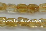 CCR235 15.5 inches 7*9mm nuggets natural citrine gemstone beads