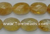 CCR25 15.5 inches 14*19mm faceted oval natural citrine gemstone beads